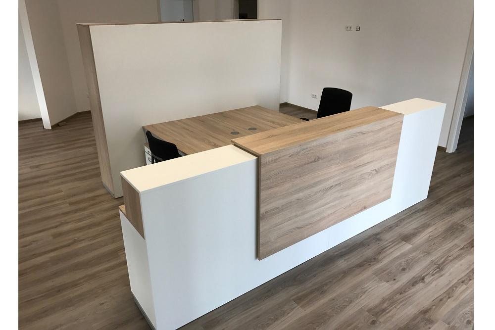 Empfangstheke mit 2 Arbeitsplätzen - Büromöbel DIREKT Frankfurt