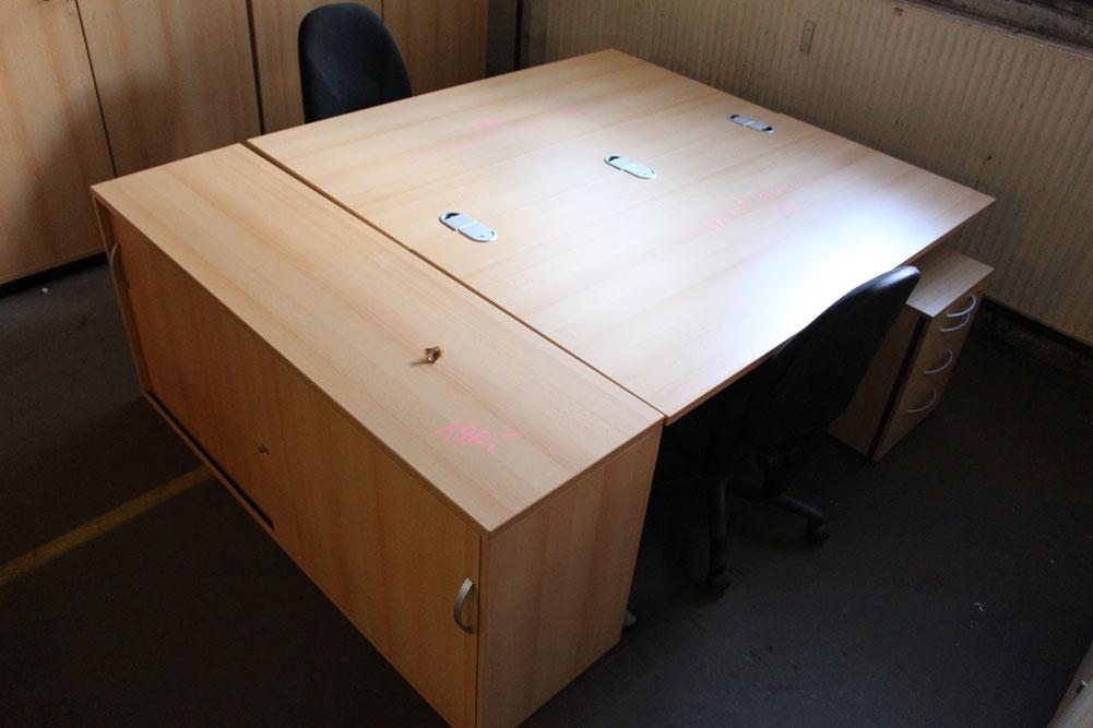 Arbeitsplatz Buche Dekor - Büromöbel DIREKT Frankfurt