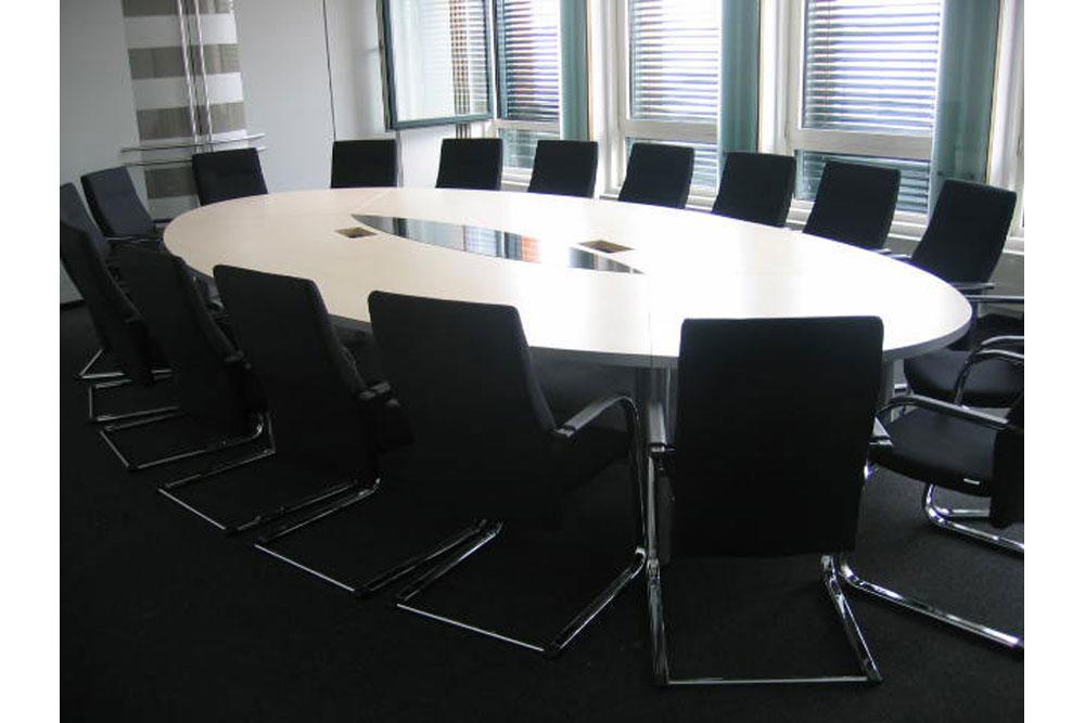Konferenztisch Oval 480 x 240 - Büromöbel DIREKT Frankfurt