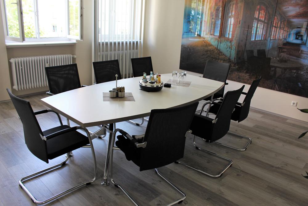 STOL AMBIENTI Konferenztisch Tonnenform 240x80/120 - Büromöbel ...