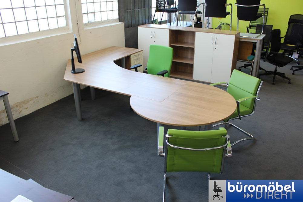 Schreibtisch mit besprechungstisch for Designburo frankfurt