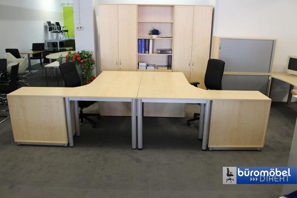 Doppelarbeitsplatz Ahorn - Büromöbel DIREKT Frankfurt