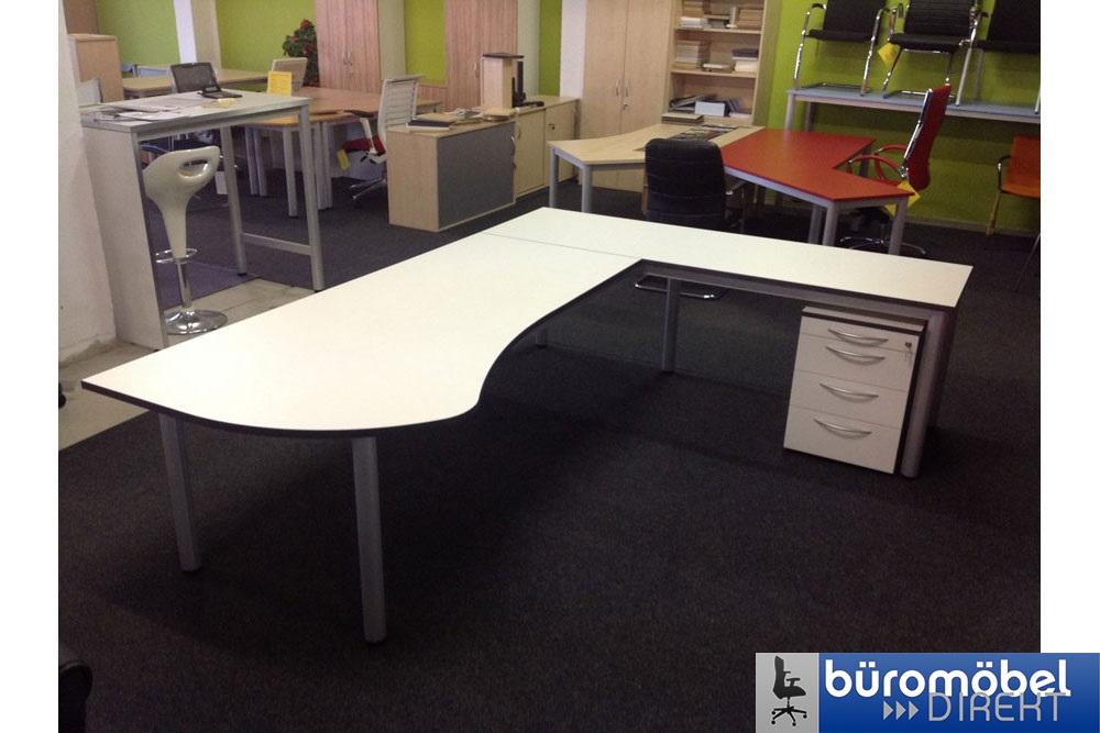 Schreibtisch L-Form Modell Skyline - Büromöbel DIREKT Frankfurt