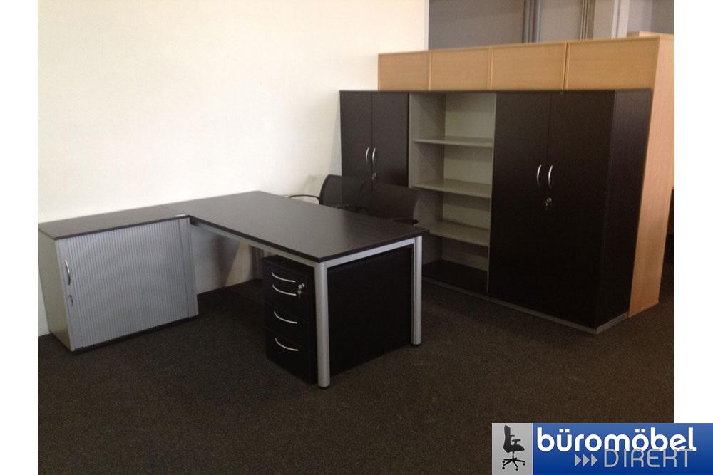 Schreibtisch 160x80 schwarz - Büromöbel DIREKT Frankfurt