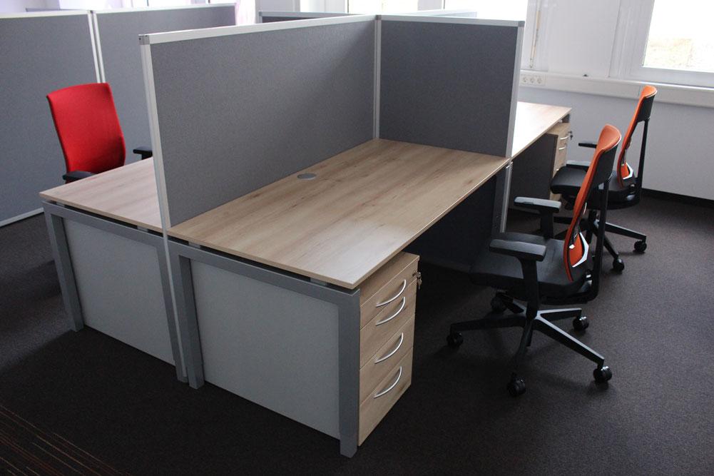 Stol Ambienti Schreibtisch Q-BIC mit Trennwand - Büromöbel DIREKT ...
